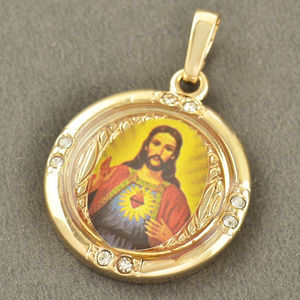 Jewelry - 9K Gold Filled Crystals Jesus Cross Pendant